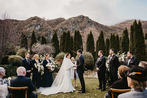 A Winter Wedding at The Winehouse,  Queenstown